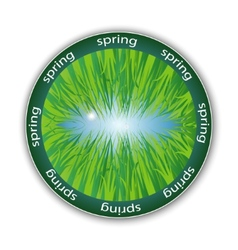 spring label vector image vector image