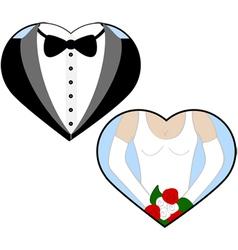Wedding love vector image