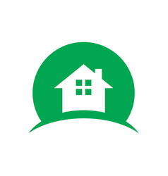 abstract home building logo vector image
