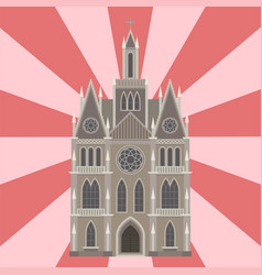 cathedral catholic church temple traditional vector image vector image