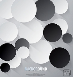 cut circle background vector image vector image