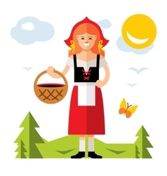 Little Red Riding Hood Cartoon vector image