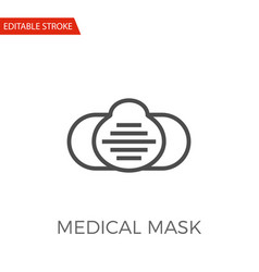 medical mask icon vector image vector image