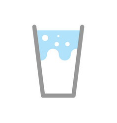 milk in glass isolated splashes and drops vector image