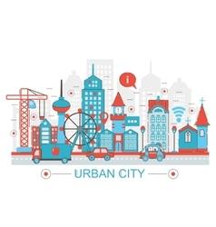 Modern Flat thin Line design Urban city concept vector image vector image