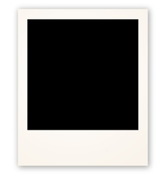 Polaroid frame for your object vector image