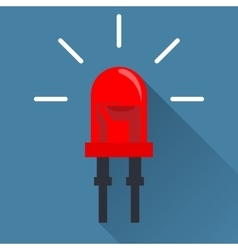 Red Light Emitting Diode vector image vector image