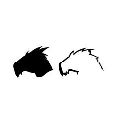 silhouette of dragon head vector image