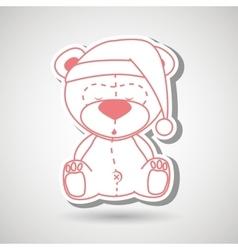 teddy sleeping design vector image vector image