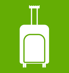 travel suitcase icon green vector image vector image