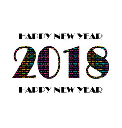 2018 with colorful typography pattern vector image