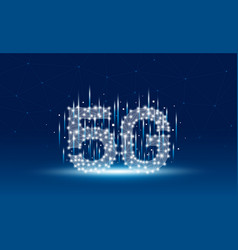5g mobile network technology design vector image