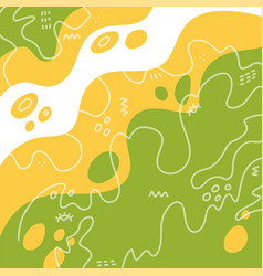 Abstract doodle flat design colour shapes memphis vector