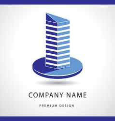 Abstract Real estate logo design template vector image