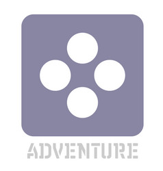 Adventure conceptual graphic icon vector