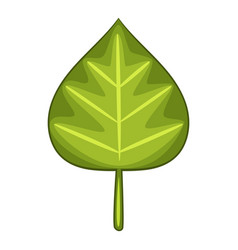 alder leaf icon cartoon style vector image