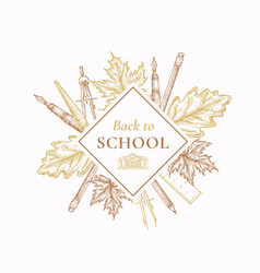 back to school autumn sale label sign or vector image