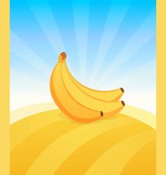 banner template with banana ads poster with copy vector image