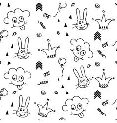 bapattern design nursery kid background vector image