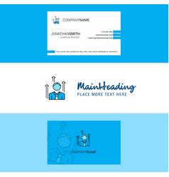 beautiful avatar logo and business card vertical vector image