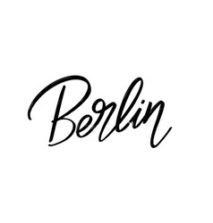 berlin hand drawn lettering isolated template vector image