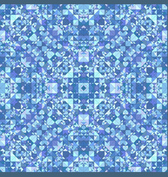 blue abstract repeating triangle mosaic tile vector image