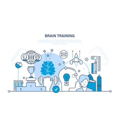 Brainstorm creative thinking start up training vector