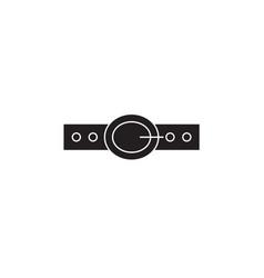 Business belt black concept icon business vector