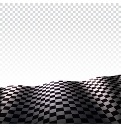 Checkered flag on transparent background vector