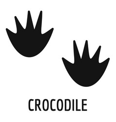 Crocodile step icon simple style vector