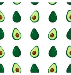 Cute beauty avocado seamless pattern vector