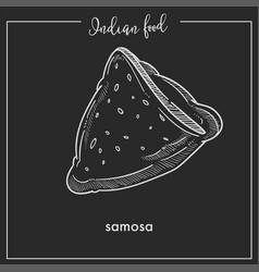 Delicious crispy triangular samosa from vector