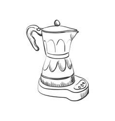 Doodle coffee maker vector