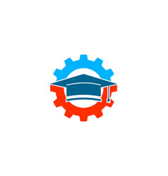 engineer education logo design element vector image