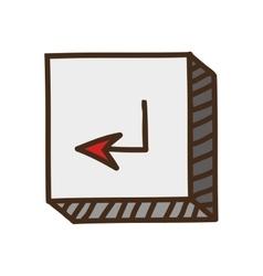 Enter button icon vector