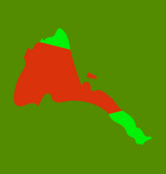 Eritrea map high detailed silhouette isolated vector