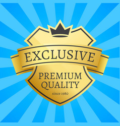 Expensive offer exclusive premium quality since vector