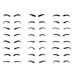 Eyebrows tattoo design vector