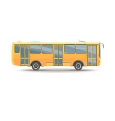 Flat design public transport vehicle city bus vector
