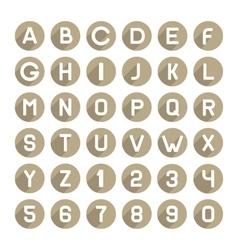 flat style alphabet icons set vector image