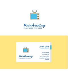 flat television logo and visiting card template vector image