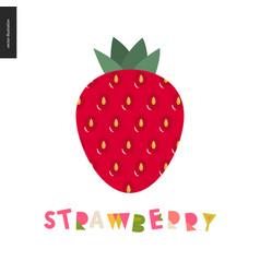 food patterns fruit strawberry postcard vector image