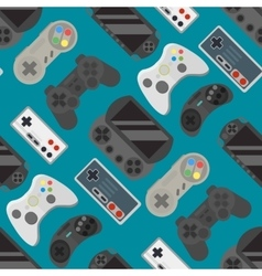 Gamepad colorful seamless pattern vector