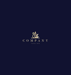 Gold logo on which an abstract image vector