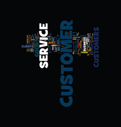 Good customer service text background word cloud vector
