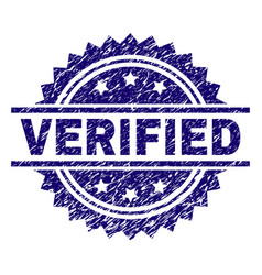 Grunge textured verified stamp seal vector