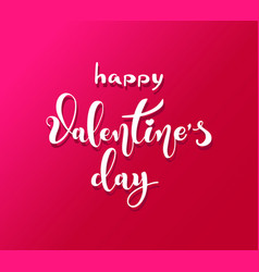happy valentines day retro vintage style brush vector image