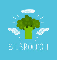 heaven broccoli concept st broccoli vector image