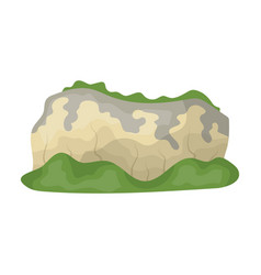 High green mountainsmountains covered with vector