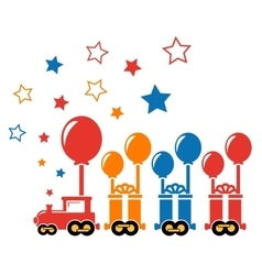 holiday train with gift vector image